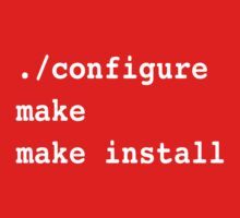 ./configure make make install for sysadmins and Linux users One Piece - Long Sleeve
