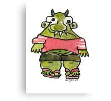 Funny Cartoon MonSTAR Monster 001 Canvas Print