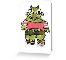 Funny Cartoon MonSTAR Monster 001 Greeting Card
