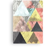 Abstract Triangles Nordic Minimal Design  Canvas Print