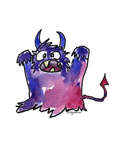 Funny Cartoon MonSTAR Monster 002 by Lillyarts