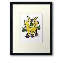 Funny Cartoon Monstar 003 Framed Print