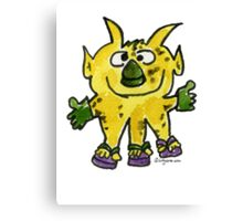 Funny Cartoon Monstar 003 Canvas Print