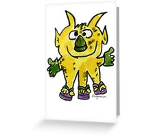Funny Cartoon Monstar 003 Greeting Card