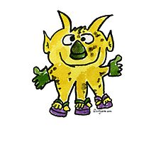 Funny Cartoon Monstar 003 Photographic Print