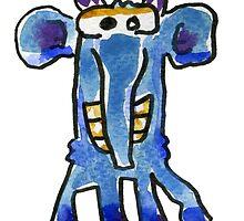 Funny Cartoon MonSTAR Monster 005 by Lillyarts