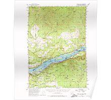 USGS Topo Map Washington Bridal Veil 240221 1954 62500 Poster
