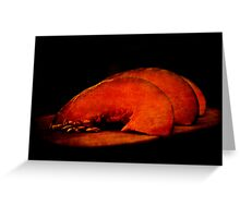 three slices of pumpkin Greeting Card