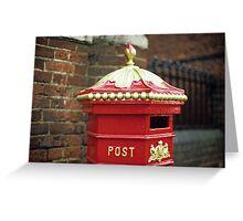 Victorian Post Box Greeting Card