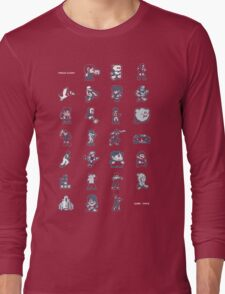 A - Z of 8-bit video games Long Sleeve T-Shirt