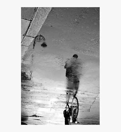 Dublin rain reflections Photographic Print
