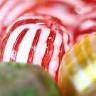 Macro of Striped Hard Candy by taiche