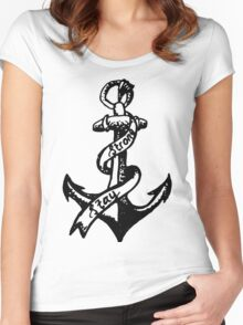 Stay Strong Anchor Women's Fitted Scoop T-Shirt