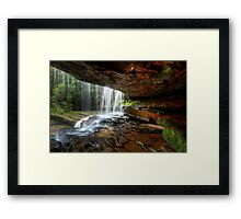 Under The Ledge Framed Print