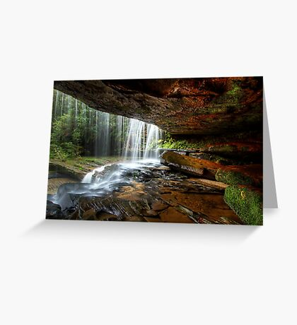 Under The Ledge Greeting Card
