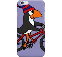 Funny Penguin Riding a Red Bicycle iPhone Case/Skin