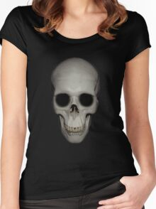 Human Skull Vector Isolated Women's Fitted Scoop T-Shirt