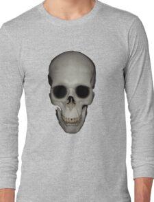 Human Skull Vector Isolated Long Sleeve T-Shirt