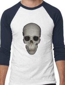 Human Skull Vector Isolated Men's Baseball ¾ T-Shirt