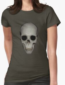 Human Skull Vector Isolated Womens Fitted T-Shirt