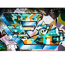 Abstract Colorful Graffiti on the textured wall Photographic Print