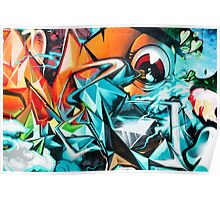 Abstract Colorful Graffiti with an Eye  Poster