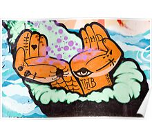 Abstract Graffiti detail with hands. Poster