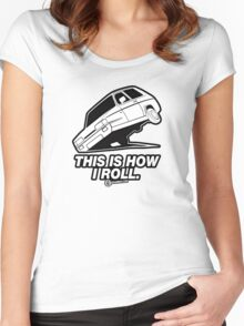 "Top Gear - Reliant Robin ""This is how I roll."" Women's Fitted Scoop T-Shirt"