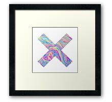 RAINBOW CROSS Framed Print