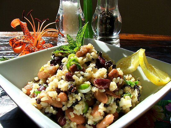 Aspire For Life - Brown Rice And Bean Salad - NZ by AndreaEL