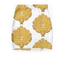 Gold Damask Mini Skirt