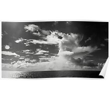 South Pacific Clouds Poster