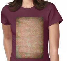Vintage silk cotton leaves texture Womens Fitted T-Shirt