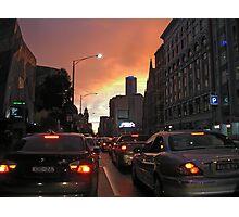Melbourne CBD dusk Photographic Print
