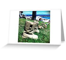 Sand Boots Greeting Card