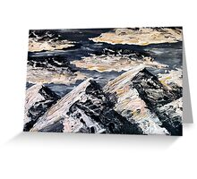 Evening Mountains Greeting Card