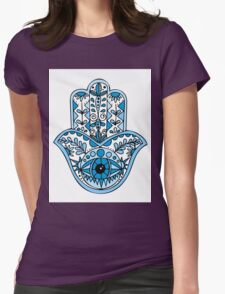 Never Enough Hamsas - Blue Womens Fitted T-Shirt