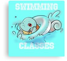 Swimming classes Canvas Print