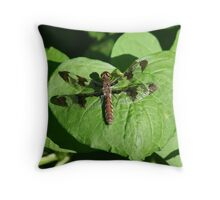 Heart and Dragonfly Throw Pillow