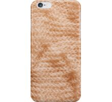 Beige fluffy knitted fabric texture  iPhone Case/Skin