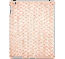 Sepia fluffy knitted fabric texture iPad Case/Skin