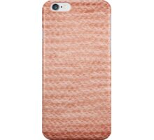 Sepia fuzzy knitted fabric texture iPhone Case/Skin