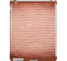 Sepia fuzzy knitted fabric texture iPad Case/Skin