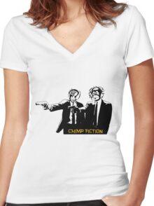 Chimp Fiction Women's Fitted V-Neck T-Shirt