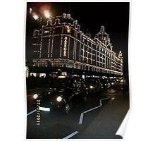 London: Famous Buildings: Harrods -(270111)- Digital photo Poster