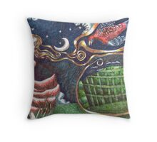 As the Rosella Flies Throw Pillow