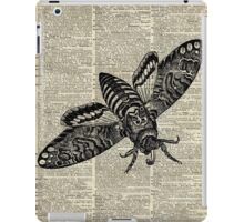 Moth Insect,Fly over Dictionary Page iPad Case/Skin