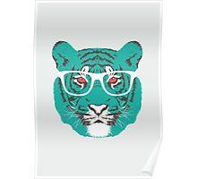 Bookish Big Cat Poster