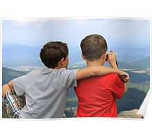 Brothers Enjoying the View Poster
