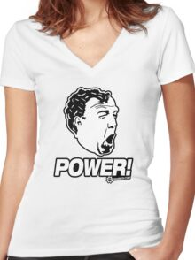 Top Gear - Jeremy Clarkson POWER!! Women's Fitted V-Neck T-Shirt
